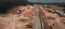Pembangunan Double Track, Sumatera Selatan